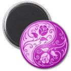 Yin Yang Roses, purple Magnet