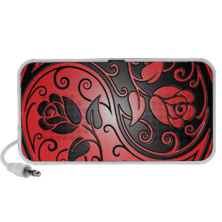 Yin Yang Roses, red and black Travelling Speaker