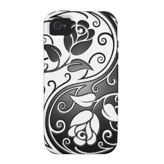 Yin Yang Roses, tight Case-Mate iPhone 4 Cover