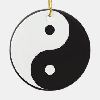 Yin Yang Round Ceramic Decoration