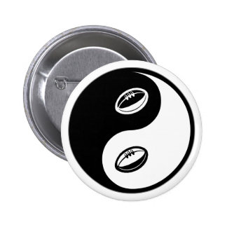 Yin Yang Rugby 6 Cm Round Badge