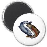 Yin Yang Salmon Fish Magnet