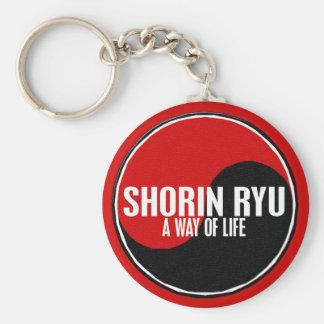 Yin Yang Shorin Ryu 1 Basic Round Button Key Ring