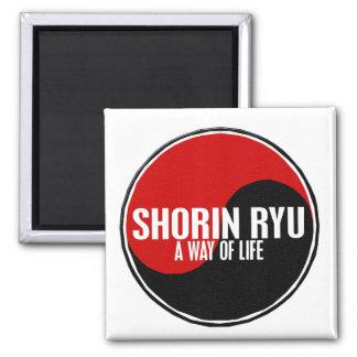 Yin Yang Shorin Ryu 1 Square Magnet