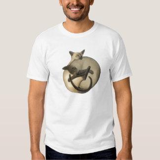 Yin Yang Siamese Cats T Shirt
