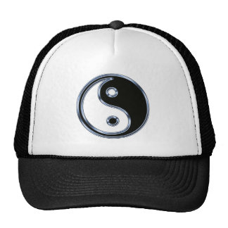 Yin Yang Sign Mesh Hats