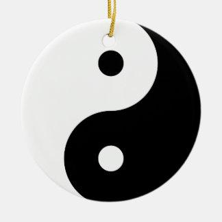 """YIN YANG"" (single-sided) Christmas Ornament"