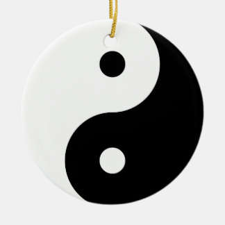 """""""YIN YANG"""" (single-sided) Round Ceramic Decoration"""