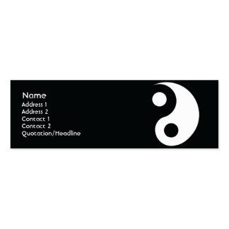 Yin Yang - Skinny Business Card