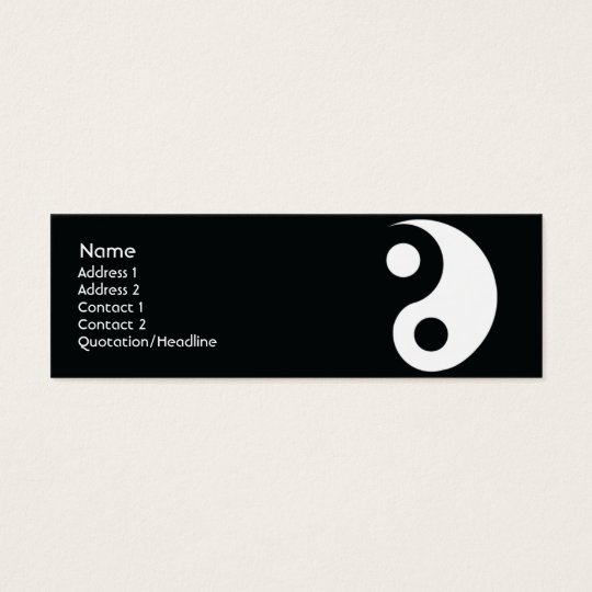 Yin Yang - Skinny Mini Business Card