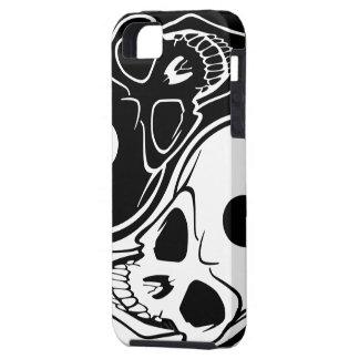 Yin Yang Skull Black and White iPhone 5 Case