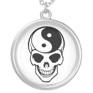 Yin Yang Skull White/Black Necklace