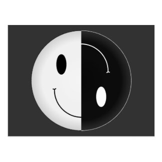 Yin Yang Smiley Postcard