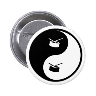 Yin Yang Snare Drum 6 Cm Round Badge