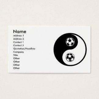Yin Yang Soccer Business Card