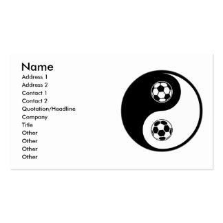 Yin Yang Soccer Pack Of Standard Business Cards