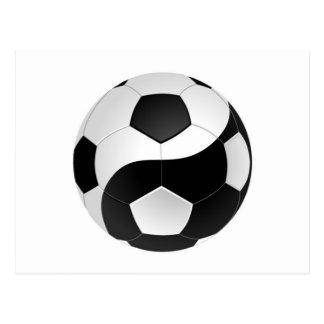 Yin Yang soccer Postcard