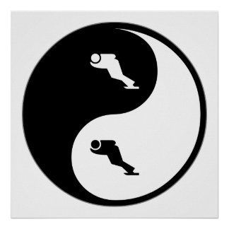 Yin Yang Speed Skating Poster
