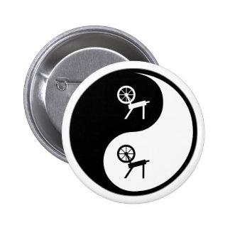 Yin Yang Spinning 6 Cm Round Badge