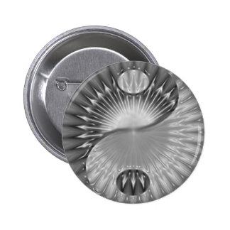Yin Yang spiral design button