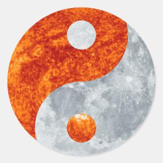 Yin & Yang Spiritual Harmony Sun & Moon Sticker