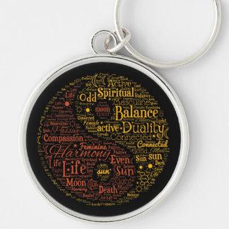 Yin Yang Spiritual Word Art Key Ring