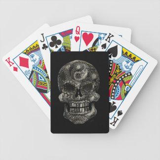 Yin-Yang Sugar Skull Bicycle Playing Cards