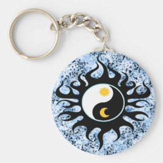 Yin Yang Sun & Moon Keychains