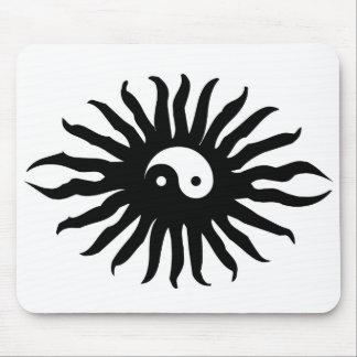 Yin Yang Sun Mouse Pad