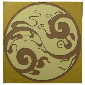 Yin Yang Swirl American MoJo Napkin
