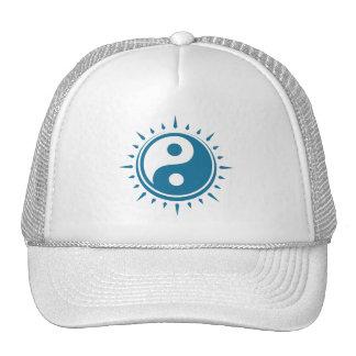 Yin Yang Symbol Cap Mesh Hats