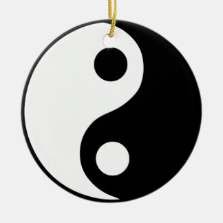 Yin Yang Symbol Christmas Ornament
