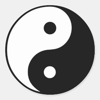 Yin Yang Symbol: Classic Round Sticker
