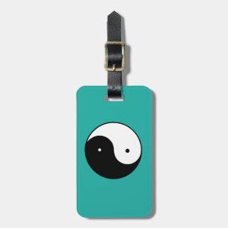 Yin Yang Symbol Luggage Tag
