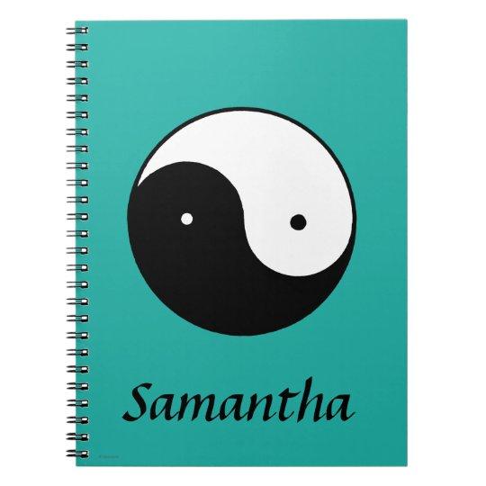 Yin Yang Symbol Notebook
