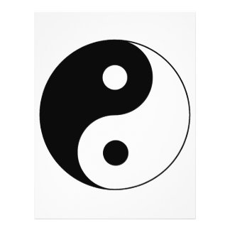 Yin Yang Symbol Personalized Flyer