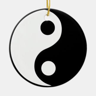 Yin Yang Symbol Round Ceramic Decoration