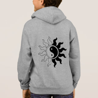 Yin Yang symbol sun in black white kid's hoodie