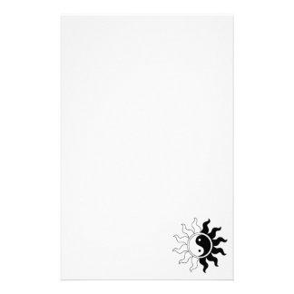 Yin Yang symbol sun Stationery Paper