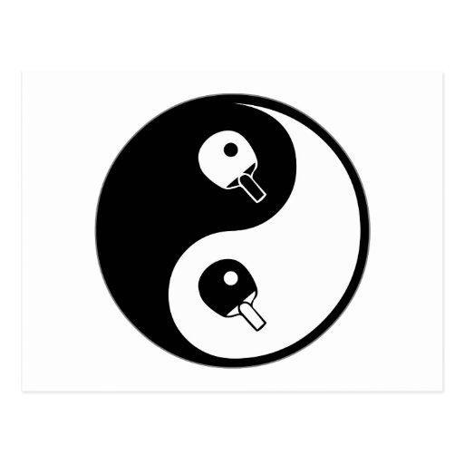 Yin Yang Table Tennis Postcards