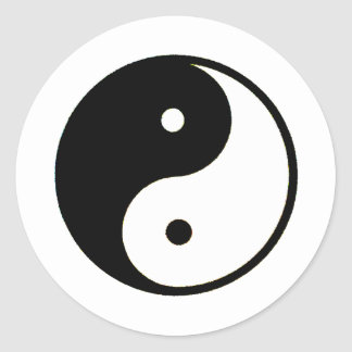 Yin Yang transp The MUSEUM Zazzle Gifts Classic Round Sticker
