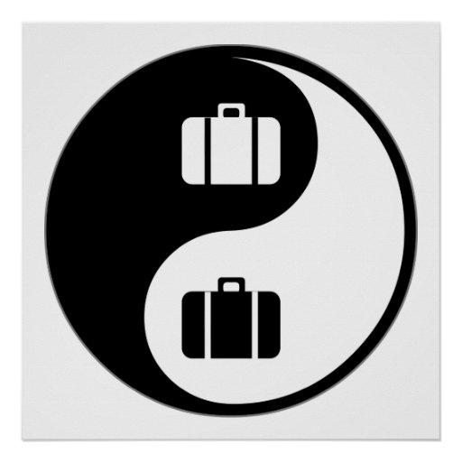 Yin Yang Travel Print