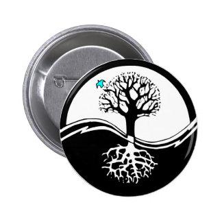 Yin Yang Tree 6 Cm Round Badge