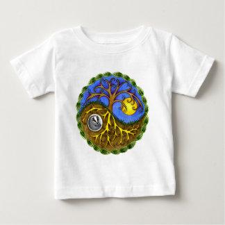 Yin & Yang Tree and Badger Baby T-Shirt
