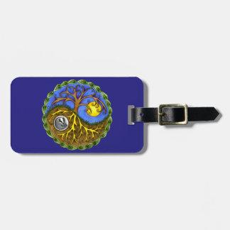 Yin & Yang Tree and Badger Bag Tag