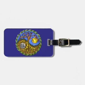 Yin & Yang Tree and Badger Luggage Tag