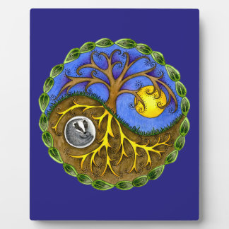 Yin & Yang Tree and Badger Plaque