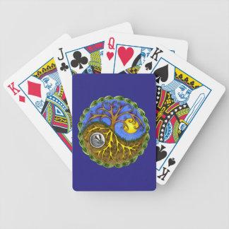 Yin & Yang Tree and Badger Poker Deck
