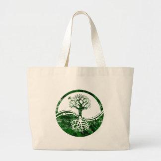 Yin Yang Tree Large Tote Bag