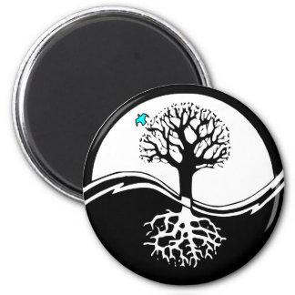 Yin Yang Tree Magnet